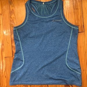 Blue work out tank